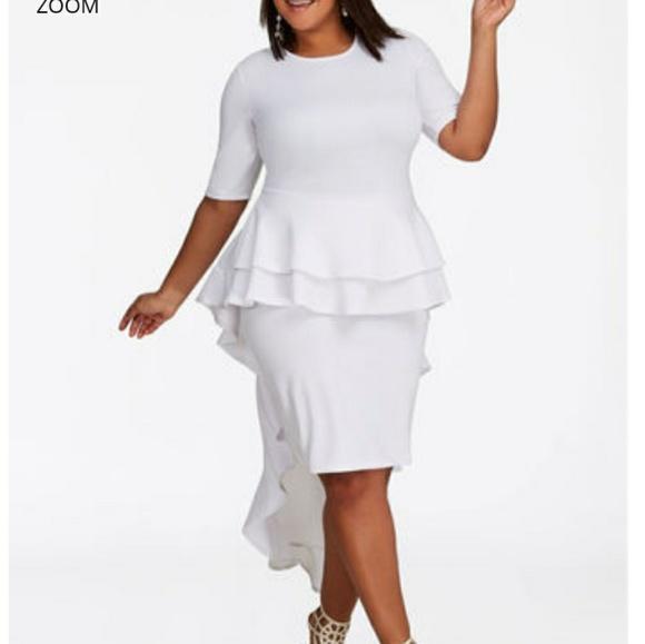 bbd78cee0f6 white Ashley Stewart dress